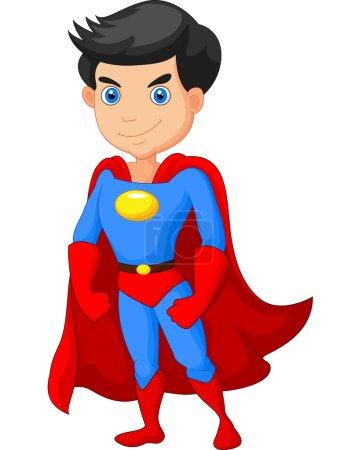 Illustration for Vector illustration of Cartoon Super hero boy posing - Royalty Free Image