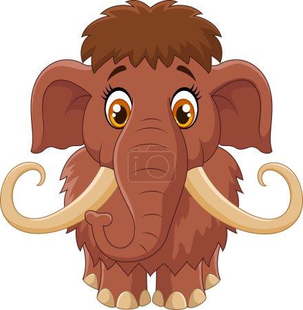 Cartoon cute mammoth