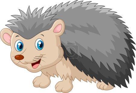 Vector illustration of Hedgehog cartoon was lookin...
