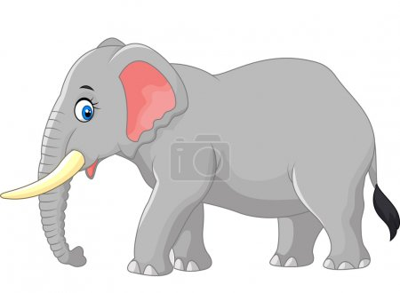 Cartoon large elephant