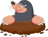 Cartoon mole gesturing