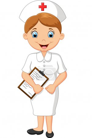 Illustration for Vector illustration of cartoon nurse - Royalty Free Image
