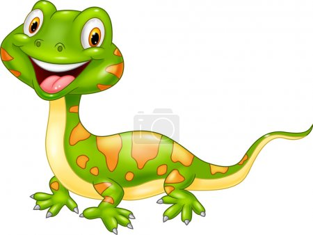 Cartoon cute lizard.