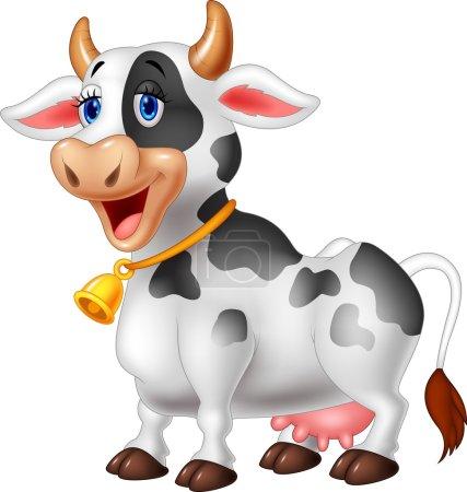 Cartoon Happy cartoon cow