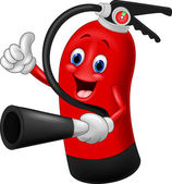 Cartoon Character of fire extinguisher giving thumb up