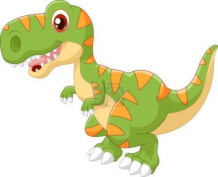 Cartoon adorable dinosaur