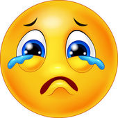 Cartoon emoticon crying