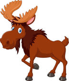 Vector illustration of Cartoon brown moose isolated on white background