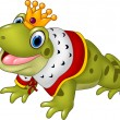 Vector illustration of Cute frog king isolated on ...