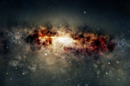 Spectacular view of a glowing galaxy