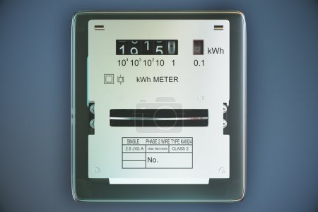 Analog electricity meter showing household consumption. power me