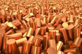 Pile of Copper granulate