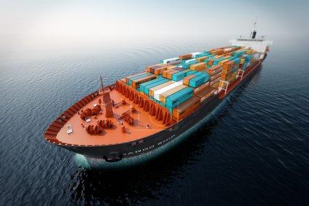 Cargo ship transportation.