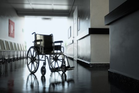 Wheelchair in hospital.