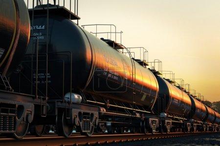 Rail oil car.