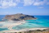 Sea summer landscape coast of the Greek island.