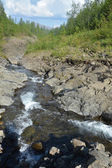 Mountain stream on the Putorana plateau.