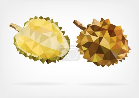 Low Poly Durian fruit