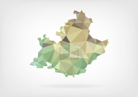 Low Poly map of french region Provence-Alpes-Cote dAzur