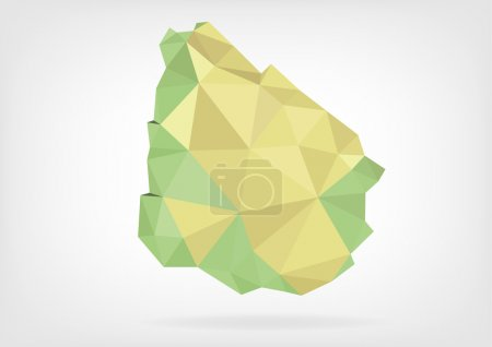 Low Poly map of Uruguay
