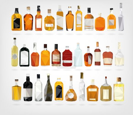Low Poly Liquor Bottles