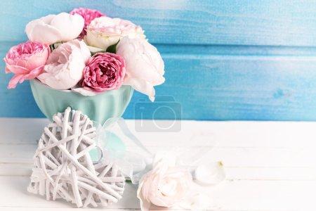 Tender roses in vase