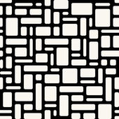 Abstract geometric seamless pattern White rounded rectangles ov