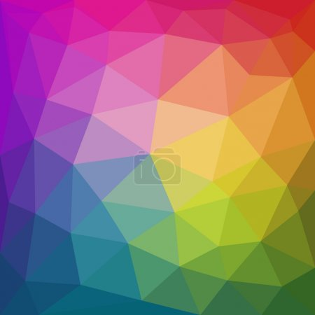 Colorful abstract geometric triangular low poly style background