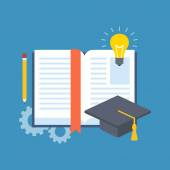 Education learning studying concept Flat design Isolated on color background