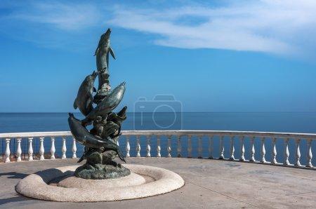 Foto de Parque ajardinado en la aldea Partenit. Parque de Aivazovsky «Paraíso» en Partenite. Crimea de Ucrania, Crimearaine, - Imagen libre de derechos