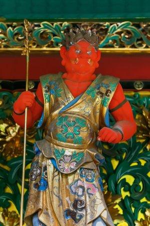 Bidara - One of the four guardians at the Yashamon Gate of Taiyuinbyo - the Mausoleum of Shogun Tokugawa Iemitsu in Nikko, Japan