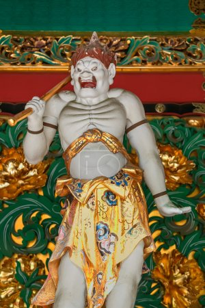 Kendara - One of the four guardians at the Yashamon Gate of  Taiyuinbyo - the Mausoleum of Shogun Tokugawa Iemitsu  in Nikko, Japan