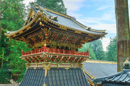 Shoro - A belfry in front of Yomeimon gate of Tosho-gu shrine in Nikko, Tochigi, Japan
