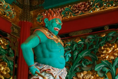 Abatsumara - One of the four guardians at the Yashamon Gate of Taiyuinbyo - the Mausoleum of Shogun Tokugawa Iemitsu in Nikko, Japan