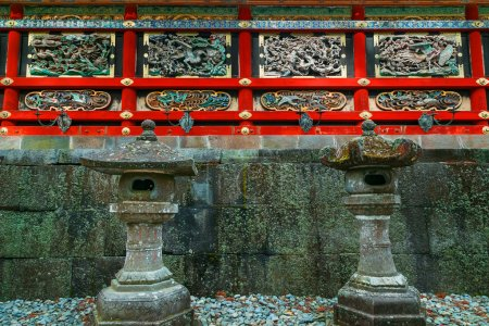 Kairo - The wall of Yomeimon gate at Tosho-gu shrine in Nikko, Tochigi, Japan