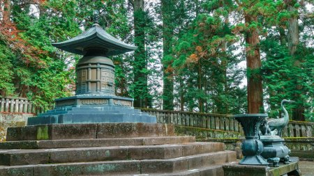 The tomb of Tokugawa Ieyasu in Tosho-gu shrine in Nikko, Japan