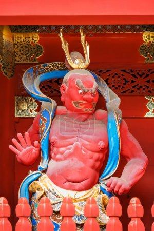 Nio - the Benevolent Kings at Nio-mon Gate of Taiyuinbyo - the Mausoleum of Shogun Tokugawa Iemitsu in Nikko, Japan