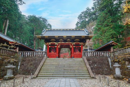 Nio-mon Gate at Taiyuinbyo - the Mausoleum of Shogun Tokugawa Iemitsu in Nikko, japan