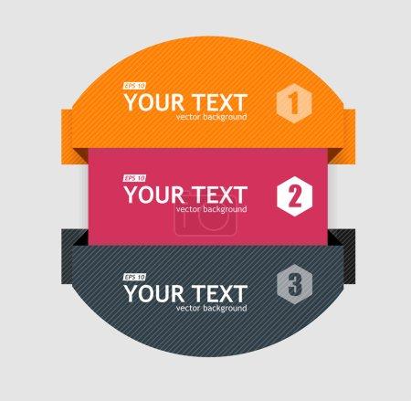 Vector infographics options banner 1 2 3