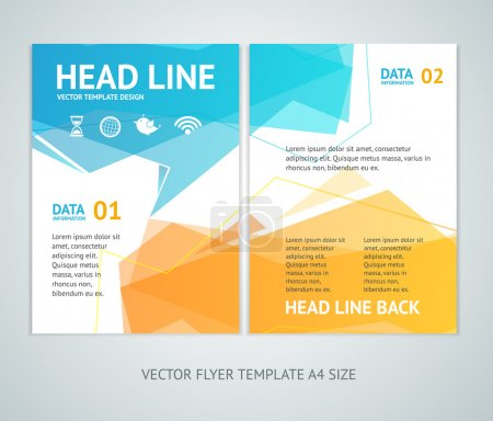 Vector  abstract geometric bubble speech brochure flyer design templates