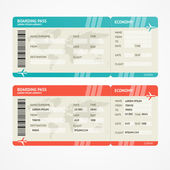 Vector illustration airplane tickets Travel concept Isolated on white Enjoy your holiday