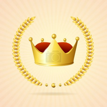 Vector golden royal crown