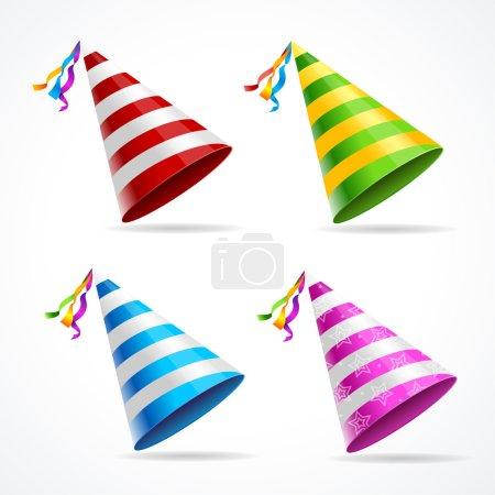 Vector Party Hat Set