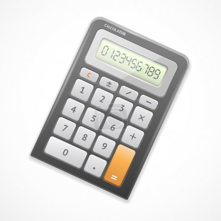 Vector black calculator