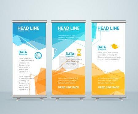 Roll Up Banner Stand Design with Abstract Geometri...