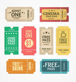 Coupon and Tickets Set Vector