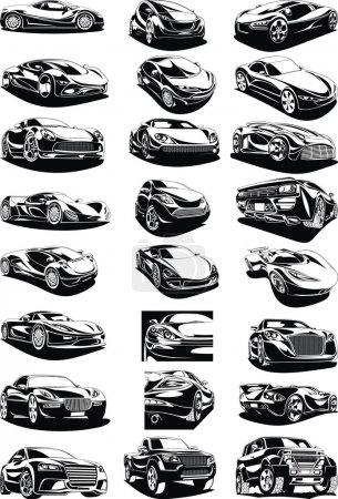 black and white my original designed cars