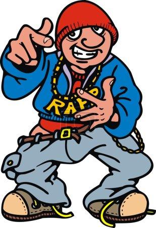 Young rap (hip hop) man