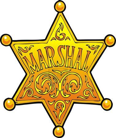 Marschal (sheriff star) isolated