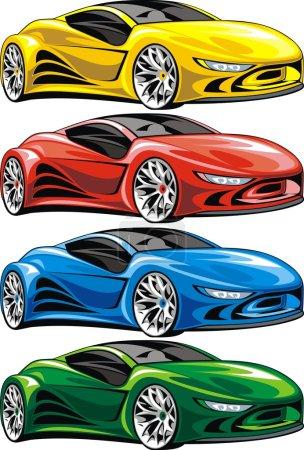 Illustration pour Ma conception originale de voiture isolée sur le fond blanc - image libre de droit